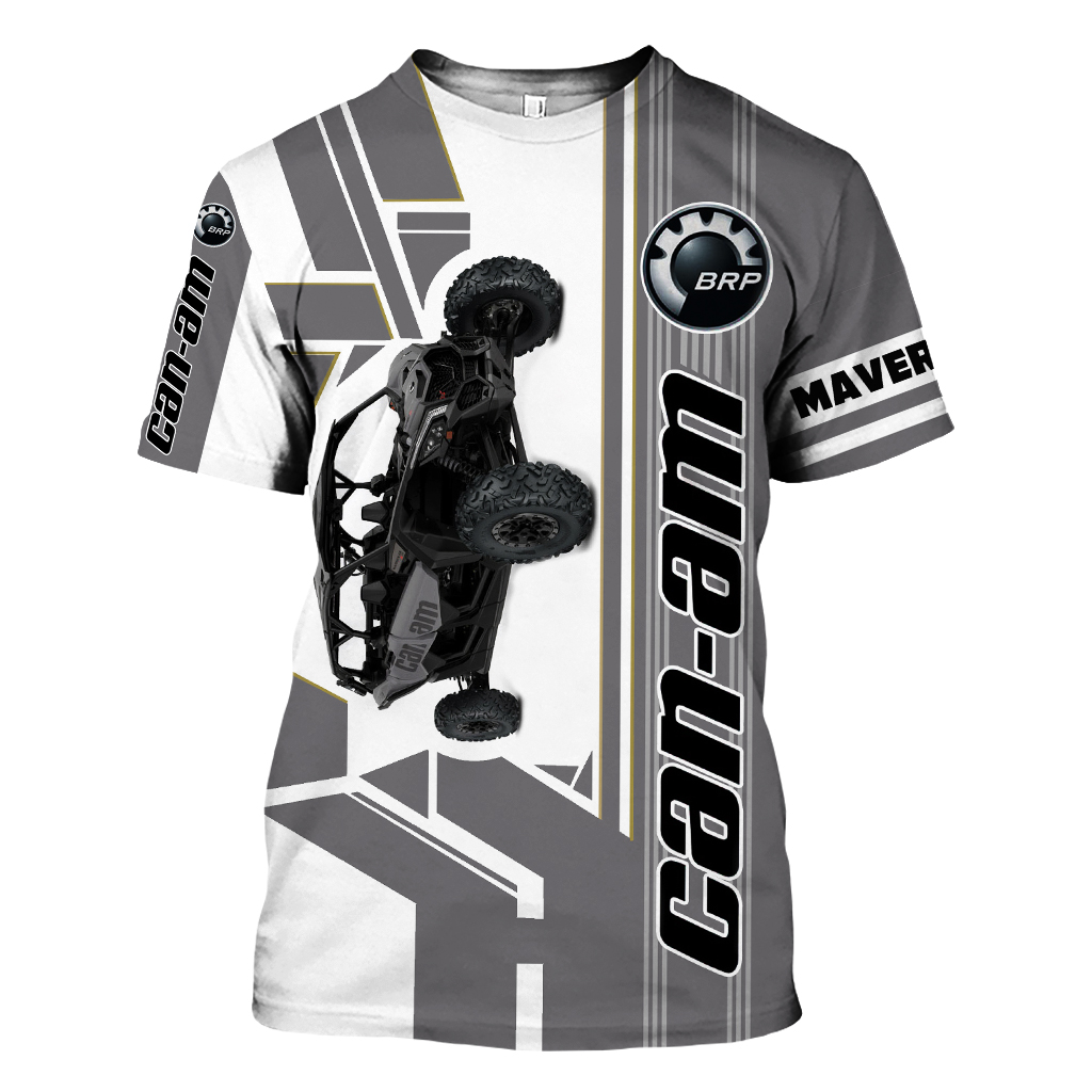 Can-Am Logo Maverick X3 X ds Turbo R Off-Road White T-Shirt S M L XL 2XL